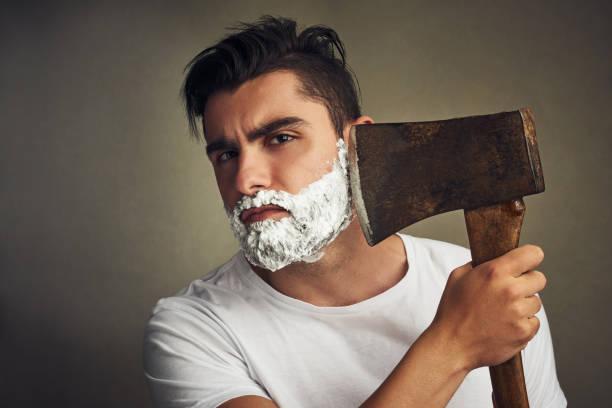 barba leñador corta