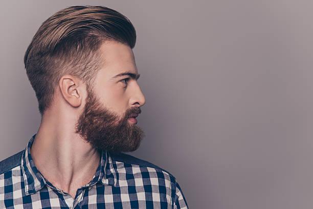 hombres con barba arreglada