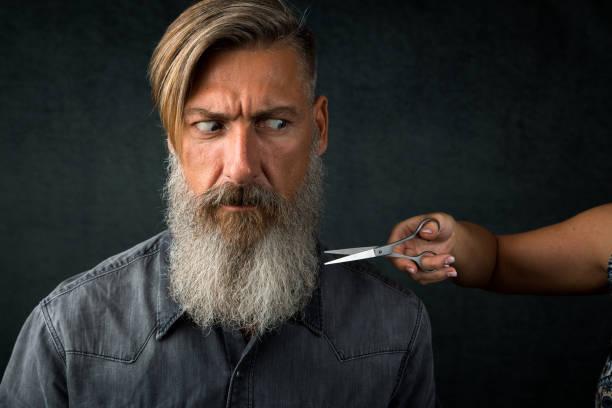 recorte de barba larga