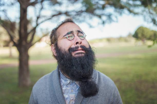 barba larga cuadrada