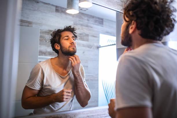 perfilar barba con maquina