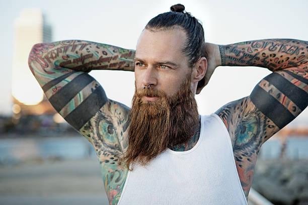 como tener barba roja