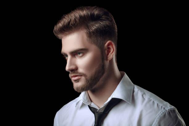 peinados con barba de candado